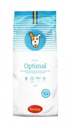 croquettes hypoallergeniques pour chien actif optimal husse