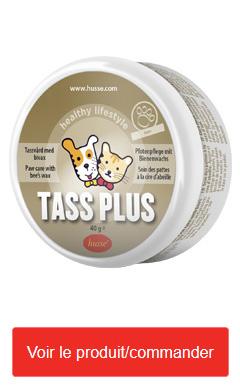 TASS PLUS : beaume à la cire d'abeille pour protéger les coussinets du chien